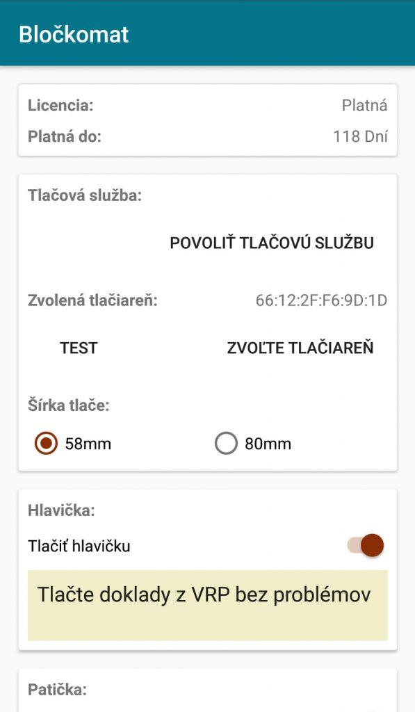 aplikacia blockomat zakladne funkcie aplikacie pre tlac z VRP