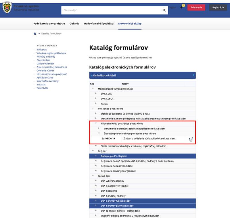 registracia VRP na financnej sprave