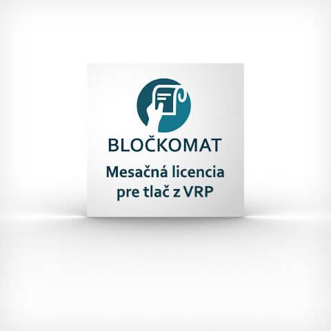 Mesačná licencie pre tlač z VRP pomocou aplikácie Bločkomat pre Android zariadenia