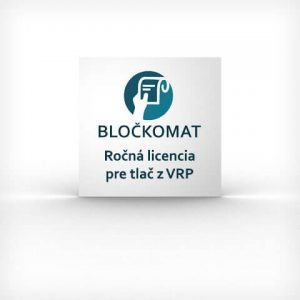 Ročná licencie pre tlač z VRP pomocou aplikácie Bločkomat pre Android zariadenia