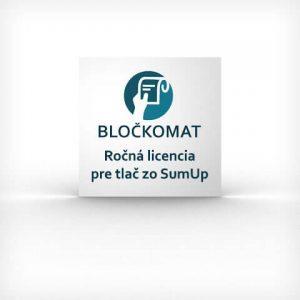 Ročná licencia pre tlač pokladničných potvrdeniek z platobného terminálu SumUp Air